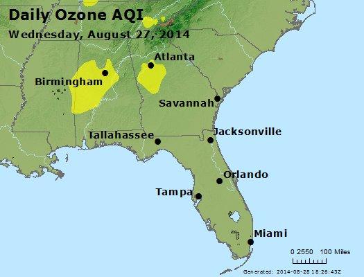 Peak Ozone (8-hour) - http://files.airnowtech.org/airnow/2014/20140827/peak_o3_al_ga_fl.jpg