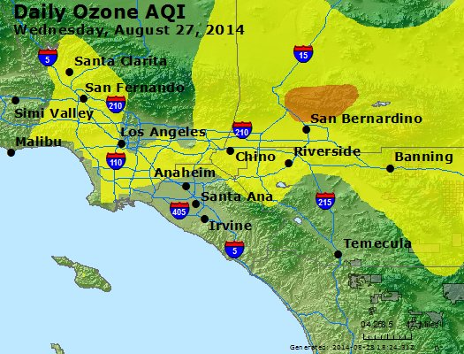 Peak Ozone (8-hour) - http://files.airnowtech.org/airnow/2014/20140827/peak_o3_losangeles_ca.jpg