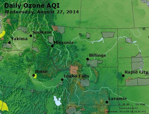 Peak Ozone (8-hour) - http://files.airnowtech.org/airnow/2014/20140827/peak_o3_mt_id_wy.jpg