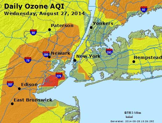 Peak Ozone (8-hour) - http://files.airnowtech.org/airnow/2014/20140827/peak_o3_newyork_ny.jpg