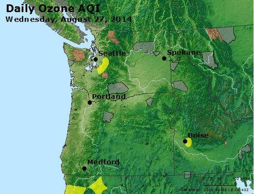 Peak Ozone (8-hour) - http://files.airnowtech.org/airnow/2014/20140827/peak_o3_wa_or.jpg