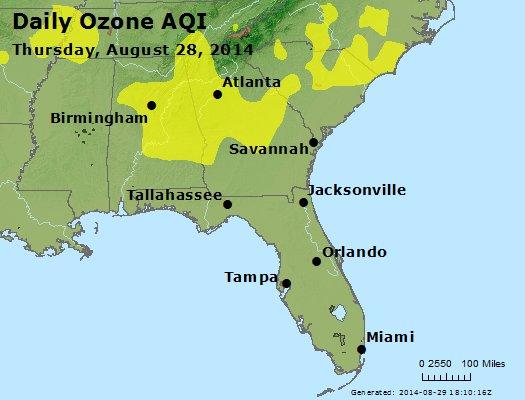 Peak Ozone (8-hour) - http://files.airnowtech.org/airnow/2014/20140828/peak_o3_al_ga_fl.jpg