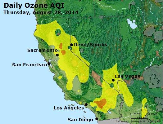 Peak Ozone (8-hour) - http://files.airnowtech.org/airnow/2014/20140828/peak_o3_ca_nv.jpg