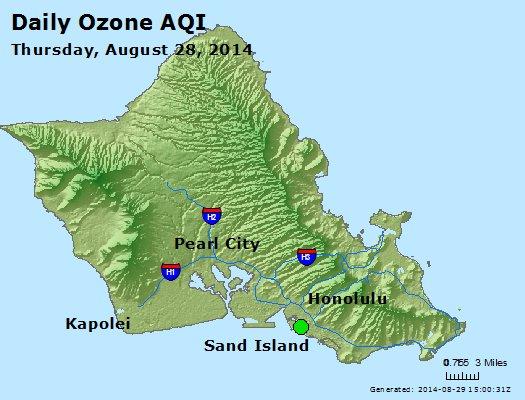 Peak Ozone (8-hour) - http://files.airnowtech.org/airnow/2014/20140828/peak_o3_honolulu_hi.jpg