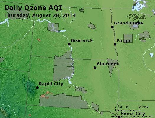 Peak Ozone (8-hour) - http://files.airnowtech.org/airnow/2014/20140828/peak_o3_nd_sd.jpg