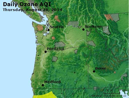 Peak Ozone (8-hour) - http://files.airnowtech.org/airnow/2014/20140828/peak_o3_wa_or.jpg