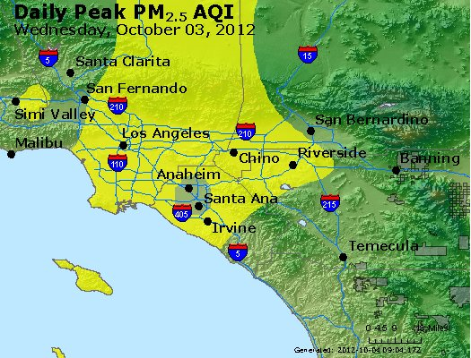 Peak Particles PM<sub>2.5</sub> (24-hour) - https://files.airnowtech.org/airnow/2012/20121003/peak_pm25_losangeles_ca.jpg