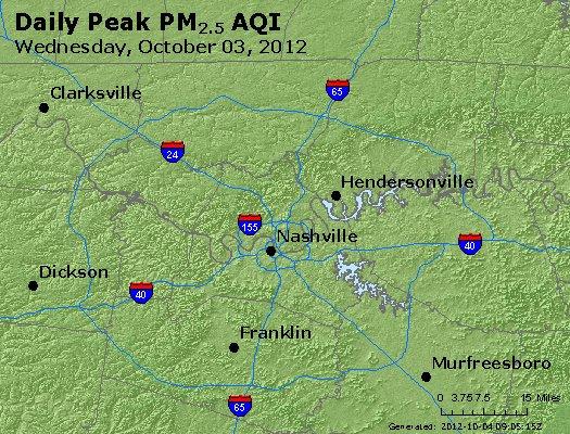 Peak Particles PM<sub>2.5</sub> (24-hour) - https://files.airnowtech.org/airnow/2012/20121003/peak_pm25_nashville_tn.jpg