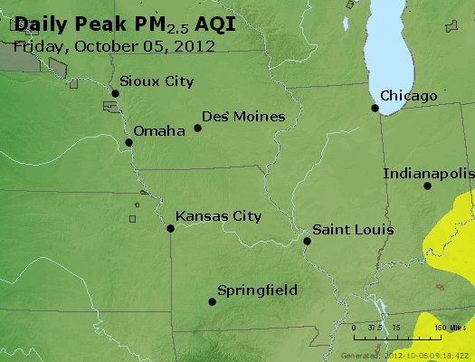 Peak Particles PM<sub>2.5</sub> (24-hour) - https://files.airnowtech.org/airnow/2012/20121005/peak_pm25_ia_il_mo.jpg