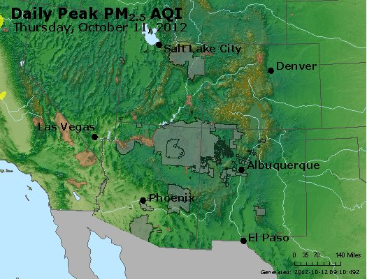 Peak Particles PM<sub>2.5</sub> (24-hour) - https://files.airnowtech.org/airnow/2012/20121011/peak_pm25_co_ut_az_nm.jpg