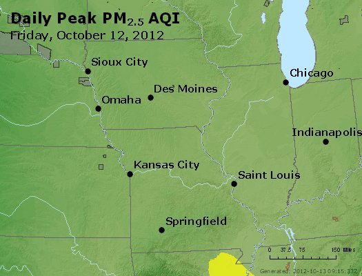 Peak Particles PM<sub>2.5</sub> (24-hour) - https://files.airnowtech.org/airnow/2012/20121012/peak_pm25_ia_il_mo.jpg