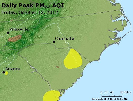 Peak Particles PM2.5 (24-hour) - https://files.airnowtech.org/airnow/2012/20121012/peak_pm25_nc_sc.jpg