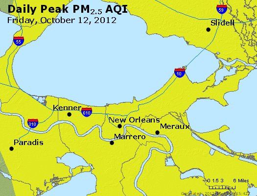Peak Particles PM<sub>2.5</sub> (24-hour) - https://files.airnowtech.org/airnow/2012/20121012/peak_pm25_neworleans_la.jpg