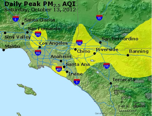 Peak Particles PM<sub>2.5</sub> (24-hour) - https://files.airnowtech.org/airnow/2012/20121013/peak_pm25_losangeles_ca.jpg