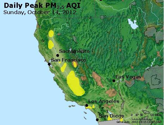 Peak Particles PM<sub>2.5</sub> (24-hour) - https://files.airnowtech.org/airnow/2012/20121014/peak_pm25_ca_nv.jpg
