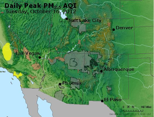 Peak Particles PM<sub>2.5</sub> (24-hour) - https://files.airnowtech.org/airnow/2012/20121016/peak_pm25_co_ut_az_nm.jpg