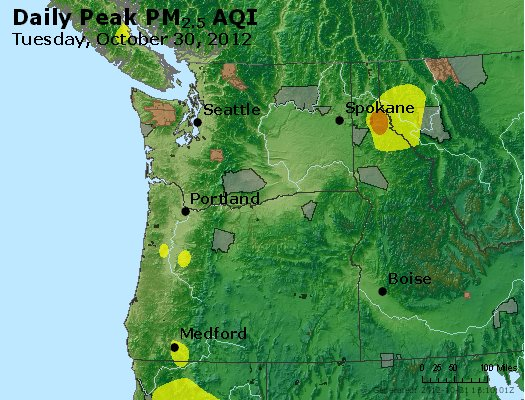Peak Particles PM<sub>2.5</sub> (24-hour) - https://files.airnowtech.org/airnow/2012/20121030/peak_pm25_wa_or.jpg