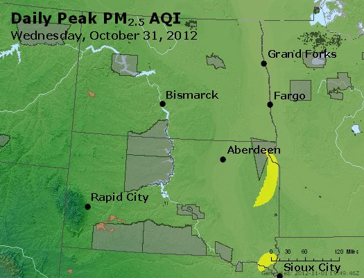 Peak Particles PM2.5 (24-hour) - https://files.airnowtech.org/airnow/2012/20121031/peak_pm25_nd_sd.jpg