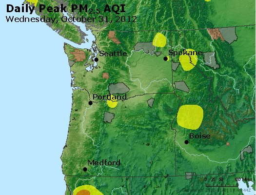 Peak Particles PM<sub>2.5</sub> (24-hour) - https://files.airnowtech.org/airnow/2012/20121031/peak_pm25_wa_or.jpg