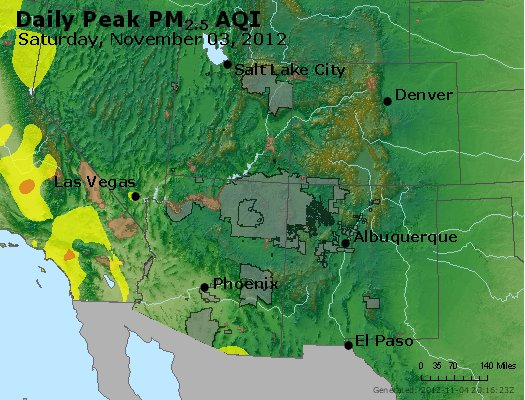 Peak Particles PM<sub>2.5</sub> (24-hour) - https://files.airnowtech.org/airnow/2012/20121103/peak_pm25_co_ut_az_nm.jpg