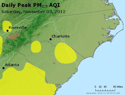 Peak Particles PM2.5 (24-hour) - https://files.airnowtech.org/airnow/2012/20121103/peak_pm25_nc_sc.jpg