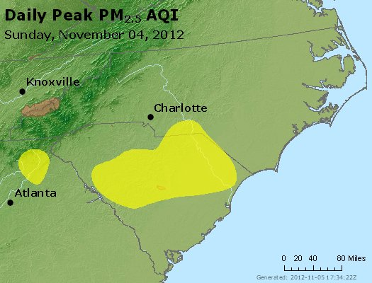 Peak Particles PM2.5 (24-hour) - https://files.airnowtech.org/airnow/2012/20121104/peak_pm25_nc_sc.jpg