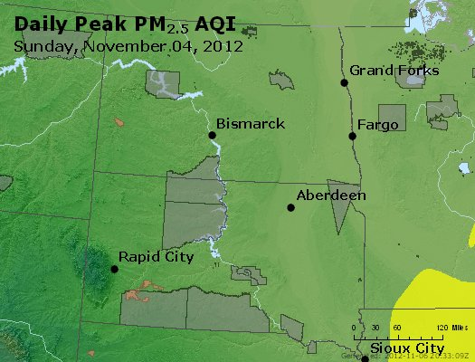 Peak Particles PM2.5 (24-hour) - https://files.airnowtech.org/airnow/2012/20121105/peak_pm25_nd_sd.jpg