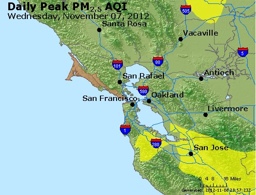 Peak Particles PM<sub>2.5</sub> (24-hour) - https://files.airnowtech.org/airnow/2012/20121107/peak_pm25_sanfrancisco_ca.jpg