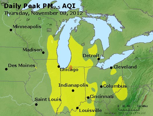 Peak Particles PM<sub>2.5</sub> (24-hour) - https://files.airnowtech.org/airnow/2012/20121108/peak_pm25_mi_in_oh.jpg