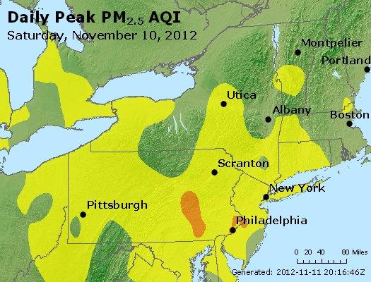 Peak Particles PM<sub>2.5</sub> (24-hour) - https://files.airnowtech.org/airnow/2012/20121110/peak_pm25_ny_pa_nj.jpg