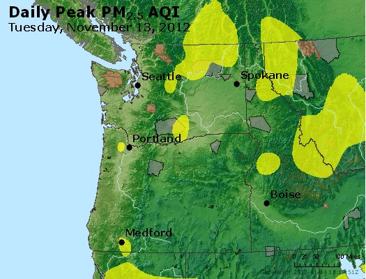 Peak Particles PM<sub>2.5</sub> (24-hour) - https://files.airnowtech.org/airnow/2012/20121113/peak_pm25_wa_or.jpg
