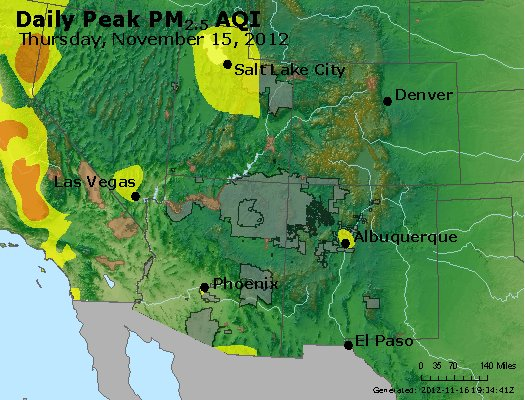 Peak Particles PM<sub>2.5</sub> (24-hour) - https://files.airnowtech.org/airnow/2012/20121115/peak_pm25_co_ut_az_nm.jpg