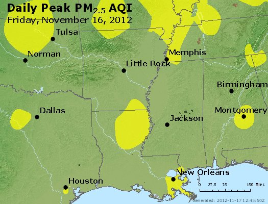 Peak Particles PM<sub>2.5</sub> (24-hour) - https://files.airnowtech.org/airnow/2012/20121116/peak_pm25_ar_la_ms.jpg