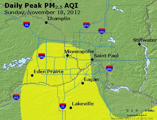 Peak Particles PM<sub>2.5</sub> (24-hour) - https://files.airnowtech.org/airnow/2012/20121118/peak_pm25_minneapolis_mn.jpg