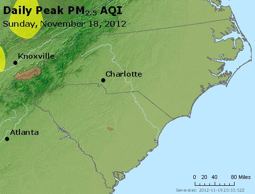 Peak Particles PM2.5 (24-hour) - https://files.airnowtech.org/airnow/2012/20121118/peak_pm25_nc_sc.jpg