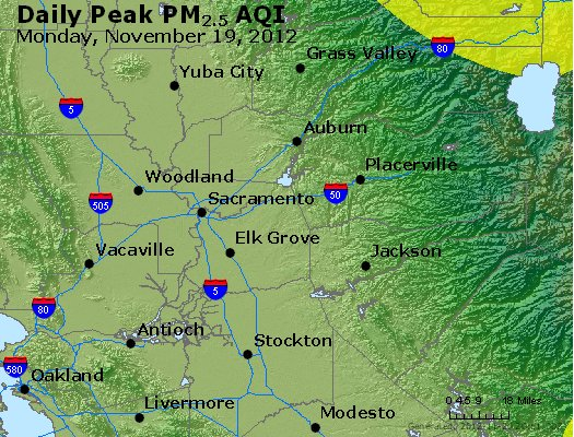 Peak Particles PM<sub>2.5</sub> (24-hour) - https://files.airnowtech.org/airnow/2012/20121119/peak_pm25_sacramento_ca.jpg