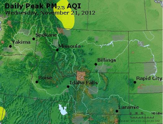 Peak Particles PM<sub>2.5</sub> (24-hour) - https://files.airnowtech.org/airnow/2012/20121121/peak_pm25_mt_id_wy.jpg