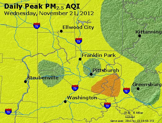 Peak Particles PM<sub>2.5</sub> (24-hour) - https://files.airnowtech.org/airnow/2012/20121121/peak_pm25_pittsburgh_pa.jpg