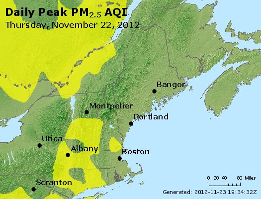 Peak Particles PM<sub>2.5</sub> (24-hour) - https://files.airnowtech.org/airnow/2012/20121122/peak_pm25_vt_nh_ma_ct_ri_me.jpg