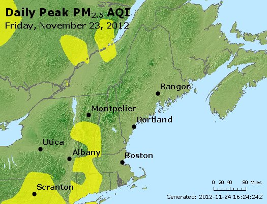 Peak Particles PM<sub>2.5</sub> (24-hour) - https://files.airnowtech.org/airnow/2012/20121123/peak_pm25_vt_nh_ma_ct_ri_me.jpg