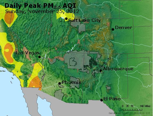 Peak Particles PM<sub>2.5</sub> (24-hour) - https://files.airnowtech.org/airnow/2012/20121125/peak_pm25_co_ut_az_nm.jpg