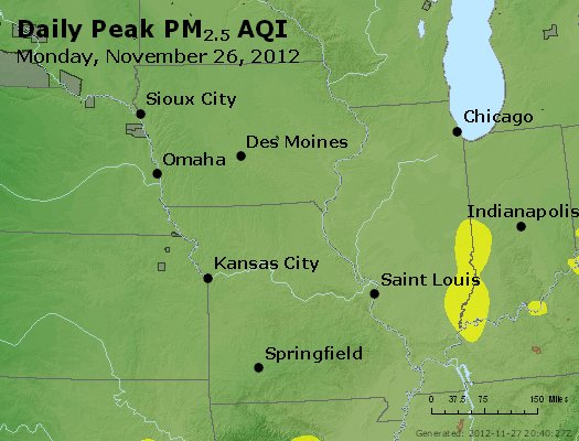 Peak Particles PM<sub>2.5</sub> (24-hour) - https://files.airnowtech.org/airnow/2012/20121126/peak_pm25_ia_il_mo.jpg