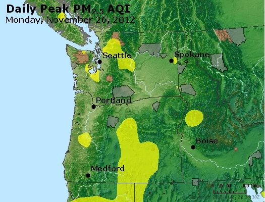 Peak Particles PM<sub>2.5</sub> (24-hour) - https://files.airnowtech.org/airnow/2012/20121126/peak_pm25_wa_or.jpg