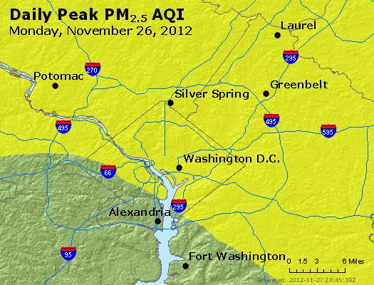 Peak Particles PM<sub>2.5</sub> (24-hour) - https://files.airnowtech.org/airnow/2012/20121126/peak_pm25_washington_dc.jpg