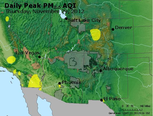 Peak Particles PM<sub>2.5</sub> (24-hour) - https://files.airnowtech.org/airnow/2012/20121129/peak_pm25_co_ut_az_nm.jpg