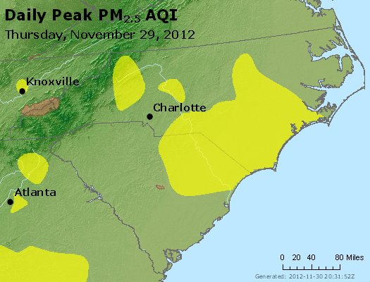 Peak Particles PM2.5 (24-hour) - https://files.airnowtech.org/airnow/2012/20121129/peak_pm25_nc_sc.jpg
