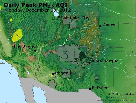 Peak Particles PM<sub>2.5</sub> (24-hour) - https://files.airnowtech.org/airnow/2012/20121203/peak_pm25_co_ut_az_nm.jpg