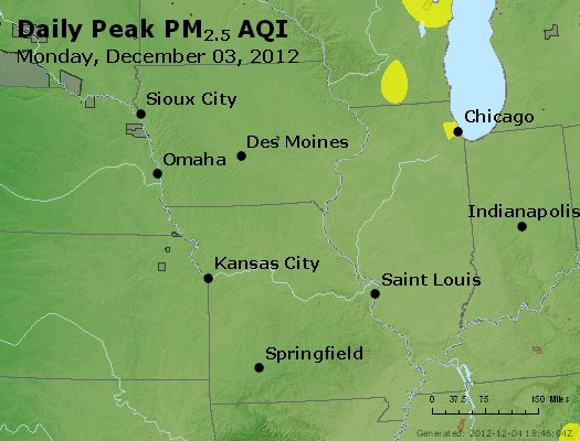 Peak Particles PM<sub>2.5</sub> (24-hour) - https://files.airnowtech.org/airnow/2012/20121203/peak_pm25_ia_il_mo.jpg