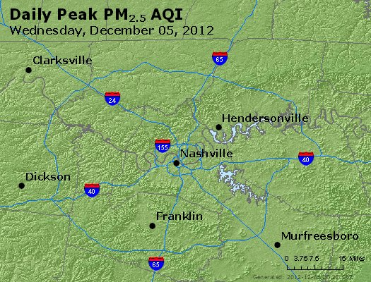 Peak Particles PM<sub>2.5</sub> (24-hour) - https://files.airnowtech.org/airnow/2012/20121205/peak_pm25_nashville_tn.jpg