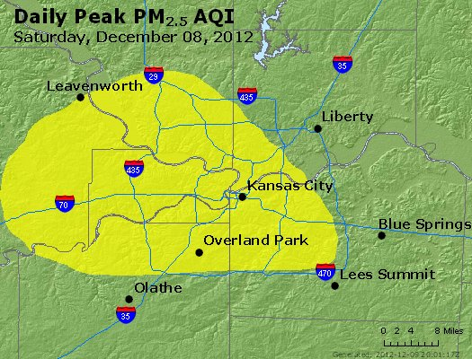 Peak Particles PM<sub>2.5</sub> (24-hour) - https://files.airnowtech.org/airnow/2012/20121208/peak_pm25_kansascity_mo.jpg